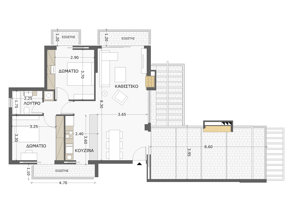 chalandri 84 sqm 4th floor